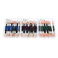 Blue/Purple/Green Eyeshadow Sponge Brushes Applicator Set 10pcs random color