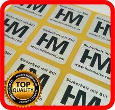 Black print! 1000 Security hologram labels, void warranty tamper seals 22x22mm