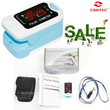 CMS50M LED Finger Pulse Oximeter SPO2 PR Blood Oxygen Heart Rate Monitor+ Pouch