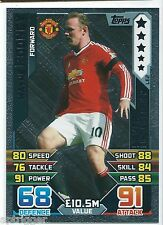 2015 / 2016 EPL Match Attax Silver Limited Edition (LE2) Wayne ROONEY Man U