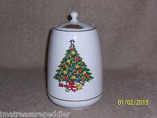 "Jamestown China ""Christmas Treasure"" Cookie Jar with lid"