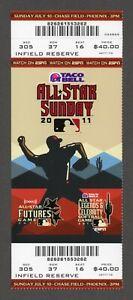 2011 ALL STAR SUNDAY 7/10 Full Ticket FUTURES LEGENDS CELEBRITY - ALTUVE HARPER