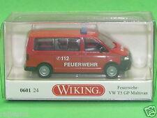 1:87 Wiking 060124 Feuerwehr - VW T5 GP Multivan Blitzversand per DHL-Paket