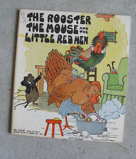 Vintage 1932 Platt & Munk Childrens Book The Rooster Mouse and Little Red Hen