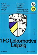 OL 85/86 FC Carl Zeiss Jena - 1. FC Lok Leipzig