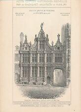 Ancien Greffe Tribunal à BRUGES Belgique 1897 - Raguenet Architecture - 15