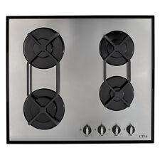 CDA HVG620SS 60cm Diseñador De Acero Inoxidable de gas en placa de vidrio de cuatro