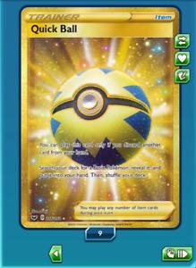Quick Ball SR 216/202 Secret Rare - SWSH Pokemon TCG Online PTCGO(In-Game)