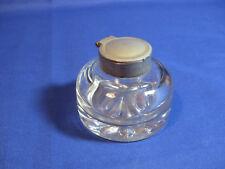 Vintage Gregorian Round Glass Inkwell