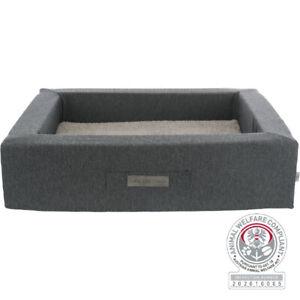 Memory Foam Dog Puppy Cat Bed | Bendson Warm Orthopaedic Plush | Grey | Washable