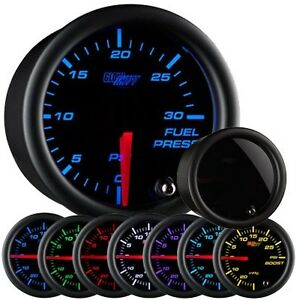 GlowShift Tinted 7 Color Series 30 PSI Fuel Pressure Gauge Glow Shift GS-T711_30