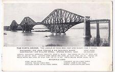 The Forth Bridge, Firth of Forth, Scotland, PPC, 1952 PMK By Valentines