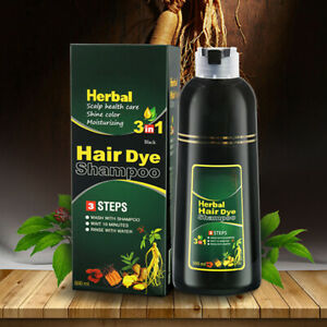 500ml Herbal Natural Permanent Hair Colour Shampoo Dying Lasting Dye Colourant