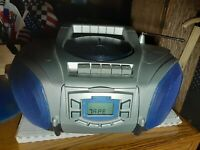 Vintage audiovox Cd Player boombox radio cassette recorder Ghetto Blaster