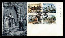 DR WHO 1992 ITALY COLUMBUS VOYAGE PLATE BLOCK FDC C212683