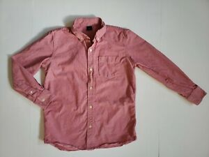 Gap Kids Button Up Down Dress Shirt Boys Size 12 XL X-Large Red Chambray