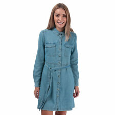 Womens French Connection Avery Denim Belted Shirt Dress In Bleach