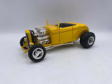 Ertl Ford Roadster Hot Rod Yellow Color 1/18 Scale Diecast American Muscle