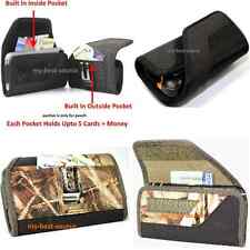 Strong Pouch Holster Belt Clip To Hold Waterproof Case+Built In 2 Money Pocket