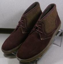 25NP1222156 MSBT50 Men's Shoes Size 9 M Burgundy Suede Boots Johnston & Murphy