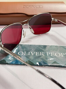 Oliver Peoples Sanford 57 523 Fight Club Tyler Durden Brad Pitt NEW Red Silver