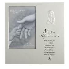 "Impressions ""My First Holy Communion"" Silver Photo Frame with Verse GIRL"