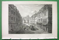 FRANCE View in City of Abbeville - SCARCE Cpt. Batty Antique Print