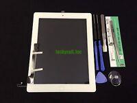 iPad 4 A1458 A1459 A1460 White Screen Glass Digitizer+Adhesive+Home Flex+Tools