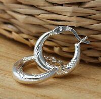 925 Sterling Silver Creole 15mm Hoop Earrings Huggie Hoops Jewellery