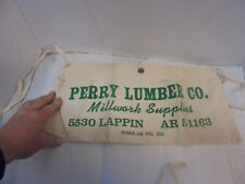 cloth carpenter's nail apron perry lumber company millwork supplies lappin #2