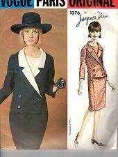 1960s Vintage Vogue Paris Original by Jacques Heim Pattern DRESS 1376 Sz 12