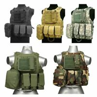Tactical Molle Vest Military Police Plate Carrier Combat Armor Vest with Pouches