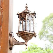Antique Exterior Wall Light Fixture Aluminum Glass Lantern Outdoor Garden  Hot