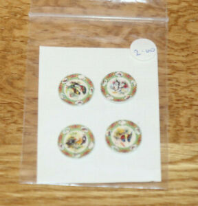 Dollshouse Miniature -  Set 4 plates, cardboard