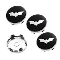 "4x 60mm 2.36"" Batman Emblem Car Logo Wheel Center Hub Rim Caps Badge Decal"