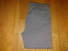 MENS FADED GLORY 36X30 COTTON DARK GRAY CHNO PANTS FANTASTIC NO FRAY RN 52469