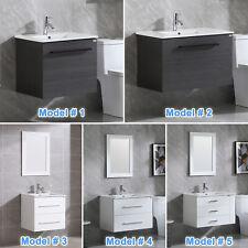Wall Mount Single Bathroom Vanity Cabinet w/ Undermount Sink Basin&Faucet Small