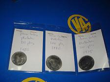 Lote 3 Monedas De 50 y 100 PESETAS Juan Carlos 1980-1975 plateadas Spain