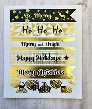 Holiday Gold Foil Saying Planner Stickers Invitations Envelope Cards Seals Bujo