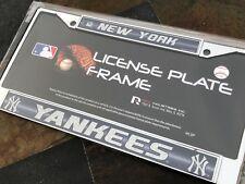 1 New York Yankees Glitter - Bling Chrome Metal License Plate Frame