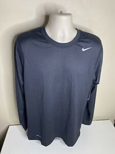 Nike Dri-Fit Long Sleeve T Shirt Men's Size Medium Black NWT