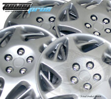 """4pc Qty 4 Pop On Wheel Cover Rim Skin Cover 16/"""" Inch #025 Hubcap Silver"""