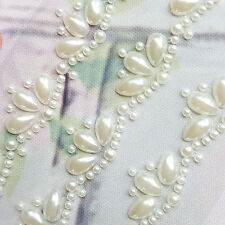 3 x 160mm Self Adhesive Pearl Borders Trim Wedding Invites Hearts Toppers 16cm