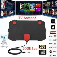 200Mile Range Indoor TV Antenna Digital HD Skywire 1080P Aerials W/ Amplifier 2X