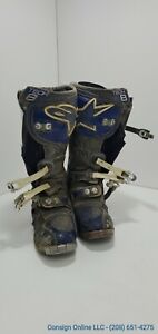 Alpine Boots Tech 8 Blue Men's Motorcycle Off Roading Boots Size 10.5 H126
