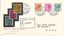 ITALIA BUSTA PRIMO GIORNO SIRACUSANA RACCOMANDATA 1960 ANNULLO ROMA FDC RODIA