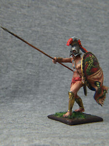 Spartan warrior on the shield of the serpent. Elite tin soldiers  54 mm.