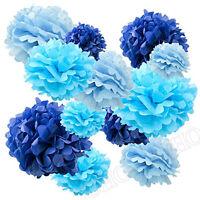 Set of 12 Tissue Pom Poms Flower Paper Party Decoration Ball Wedding Birthday