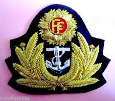 NEW IRISH NAVY OFFICER HAT CAP BADGE CP MADE REAL VERSION COPY FREE SHIP USA