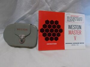 Weston Master V Universal Exposure Meter 748 Case Instructions